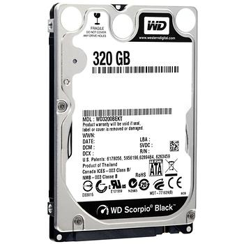 WD 2.5 320 GB Black 7200 rpm 16MB sata 3 WD3200BEKX