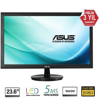 Asus 23.6 VS247HR Full HD HDMI Led Monitör Siyah 2ms