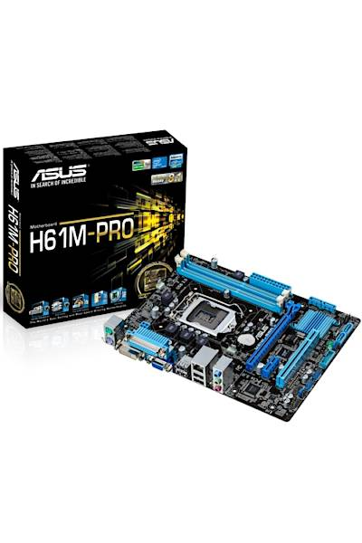 Asus H61M-PRO DDR3 1600MHz VGA 1155p Anakart
