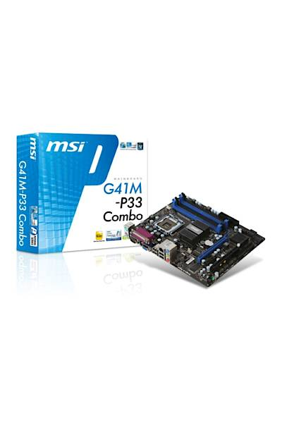 MSI G41M-P33 Combo DDR2 DDR3 1333MHz VGA 775p Anakart